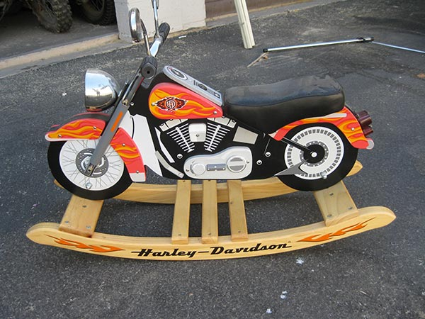 Collectables 051 Jpg Harley Rocking Horse Davidson Wood