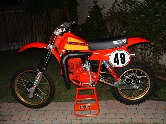 1980 Moto-X Fox Honda Team Bike CR 250 R - AMS Racing